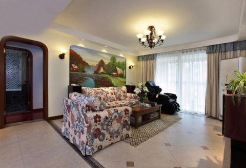 宋都晨光国际美式风格三居室效果图