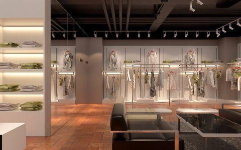 铜山万达320平米服装店工装效果图