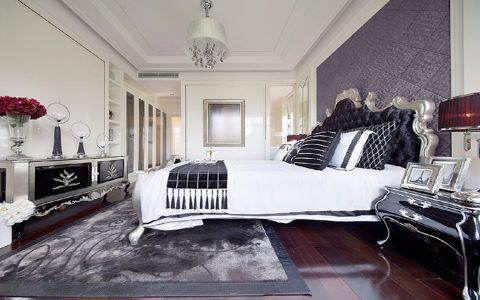 现代简约卧室吊顶装饰效果图