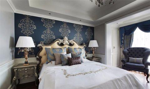 卧室背景墙欧式装修案例图片