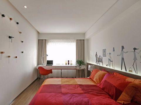 卧室咖啡色床简约风格装潢效果图