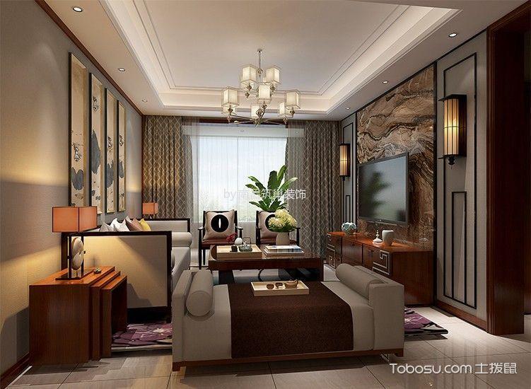 正荣御品三居室中式风格效果图