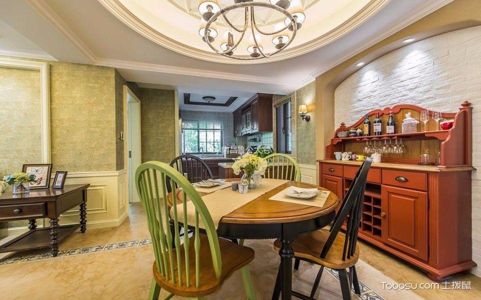 天使水榭湾三居室美式乡村风格效果图