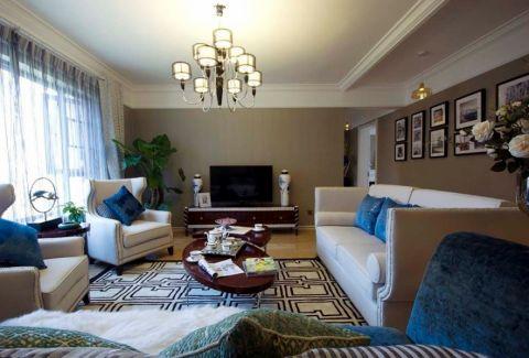 远洋心里商铺美式风格三居室效果图