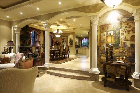 最新美式米色走廊室内装修图片