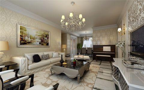锦艺国际120平三室两厅美式效果图