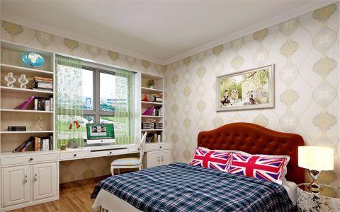 卧室白色背景墙简约风格效果图