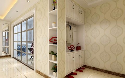 玄关米色背景墙简约风格装修效果图