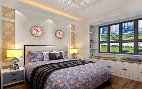 卧室白色背景墙简约风格装饰效果图