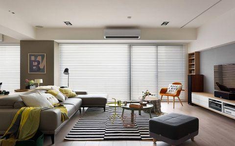 客厅白色吊顶北欧风格装修效果图