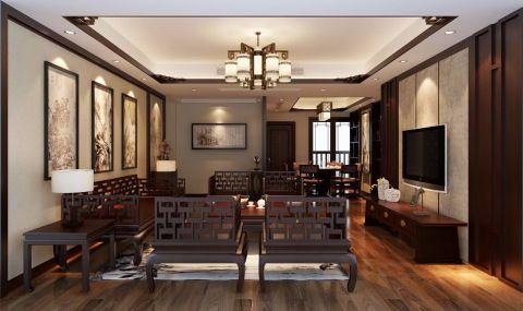 2019中式110平米装修图片 2019中式三居室装修设计图片