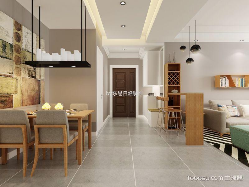 财富官邸122平米现代风格效果图