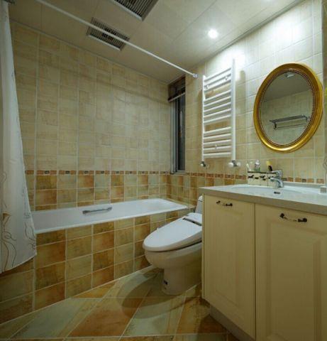 卫生间背景墙美式风格装饰图片