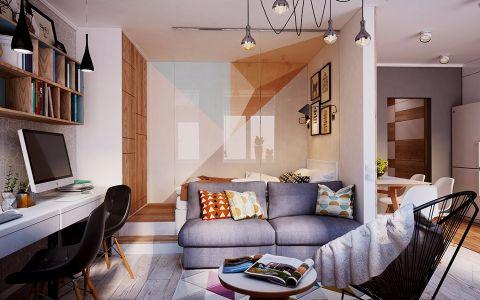 客厅吊顶混搭风格装饰设计图片