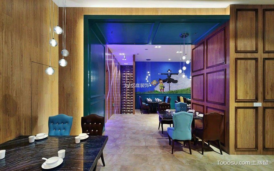 饭店用餐区地板装修实景图