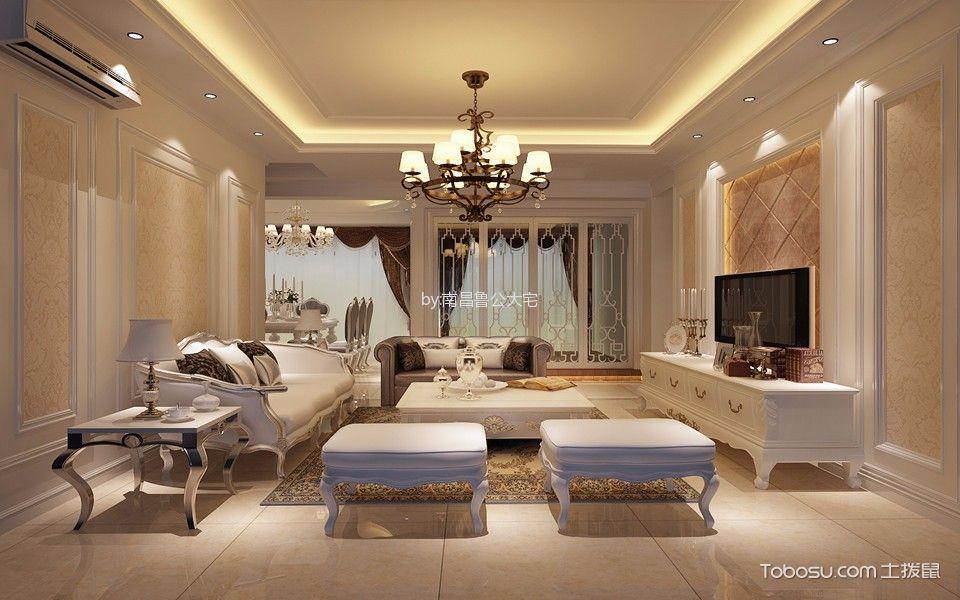 力高滨湖国际三居室欧式风格效果图