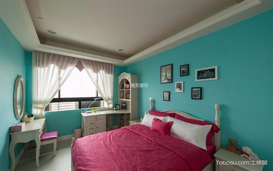 卧室绿色照片墙新古典风格装潢图片
