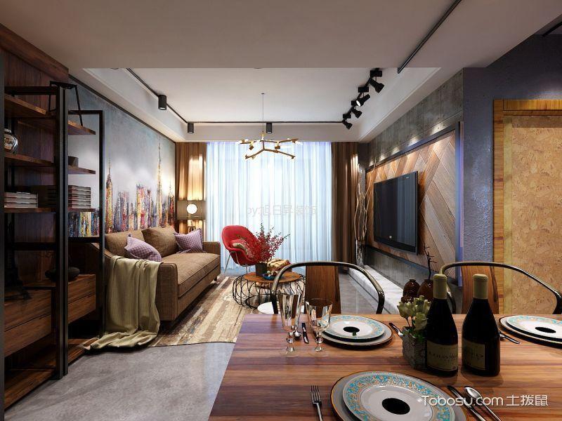 尚品天城三居室现代风格装修效果图