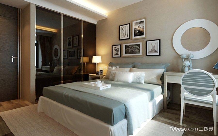 卧室白色书桌地中海风格效果图