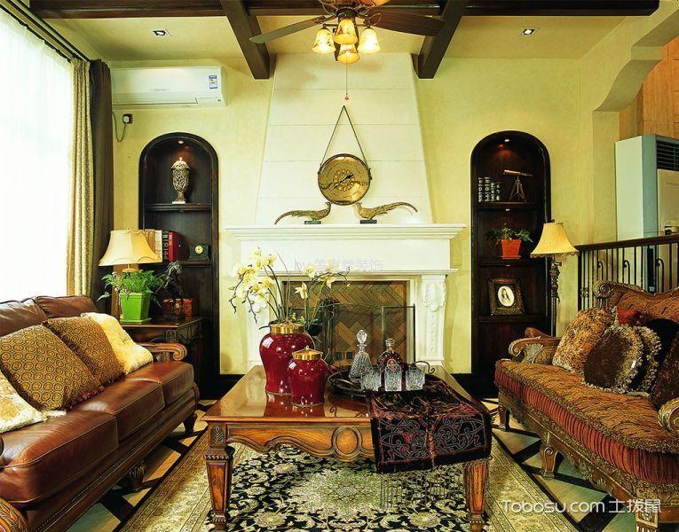 顺天花苑美式风格两室一厅装修案例