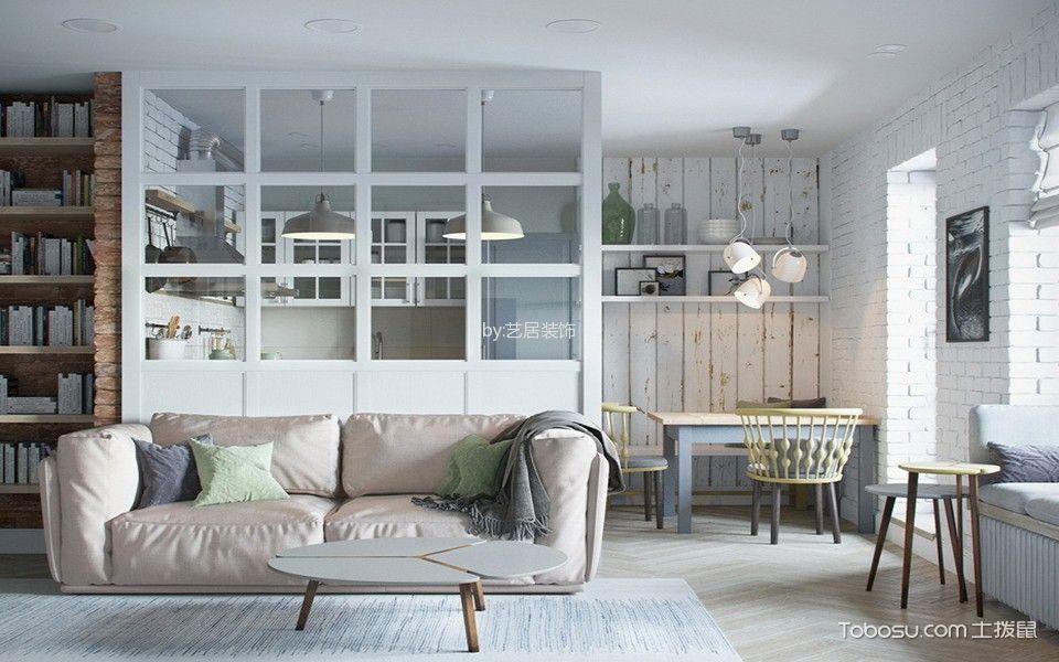 客厅 隔断_中南龙庭二居室现代简约风格装修效果图