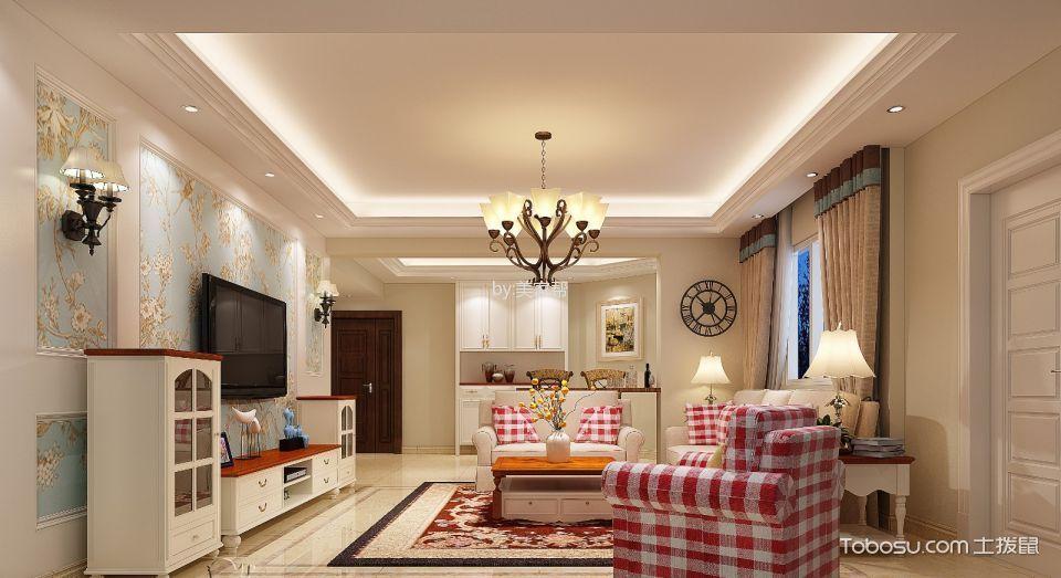 名邦豪苑白色120平米简欧风格3房2厅装修效果图