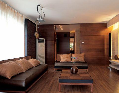京城豪苑东南亚风格复式装修案例