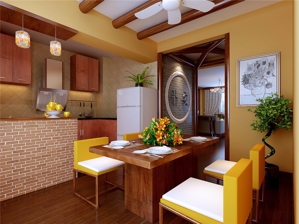 3室2卫1厅150平米中式风格