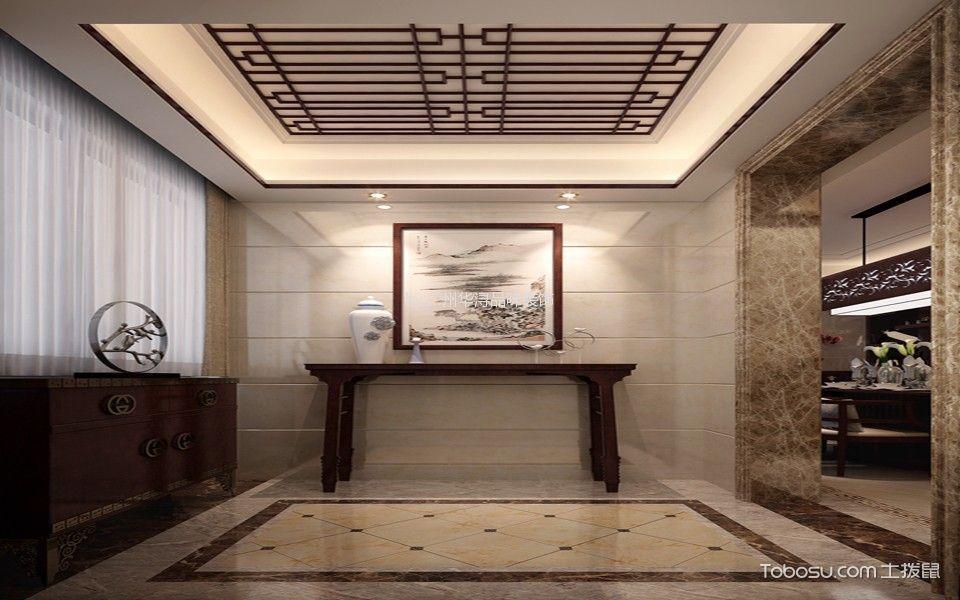 誉珑湖滨复式新中式效果图