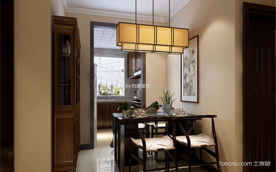 雅仕兰庭2室2厅1卫100㎡中式风格效果图