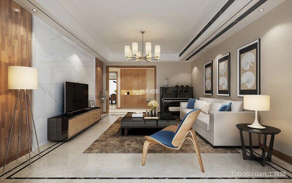清水湾现代简约三居室效果图