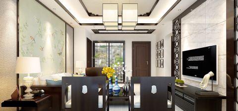 中式风格66平米小户型房子装饰效果图