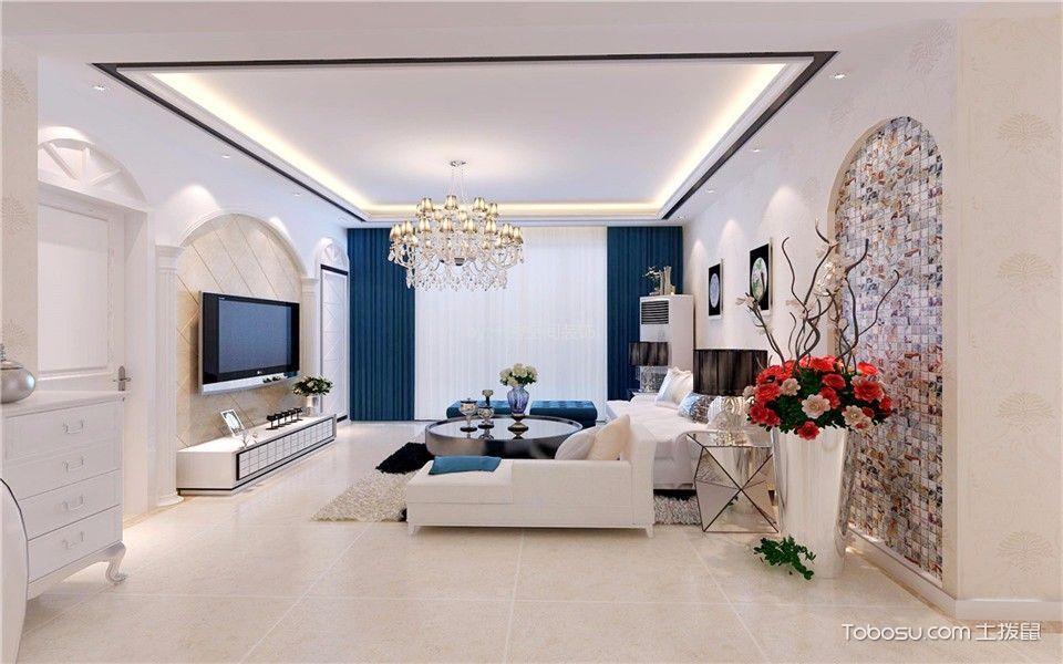 楚江府第150平米现代风格三居室装修效果图