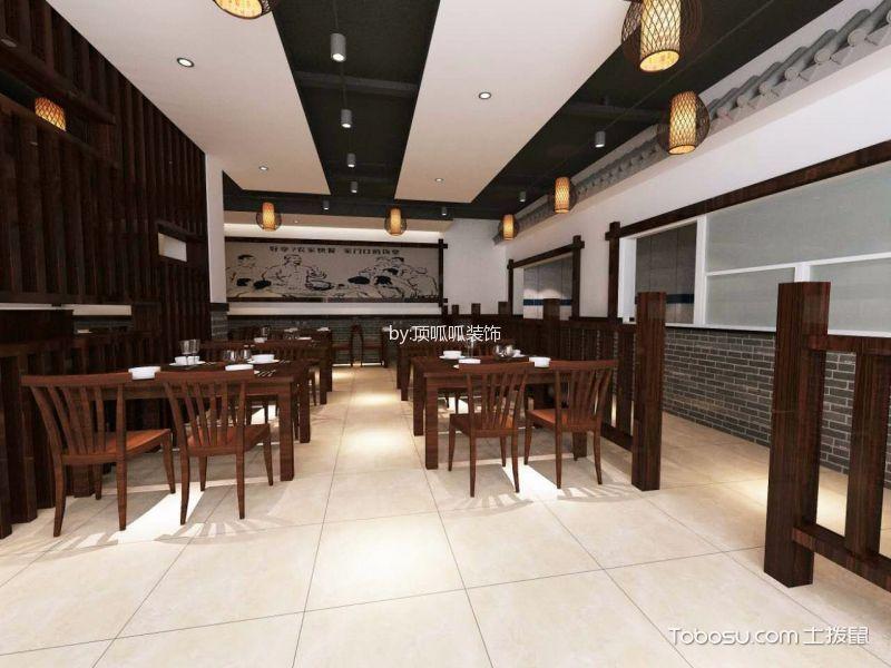 新中式餐饮店餐桌装修设计图片