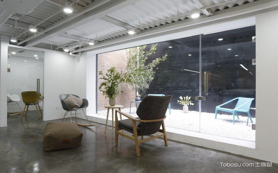 2800平米写字楼休闲角装饰实景图