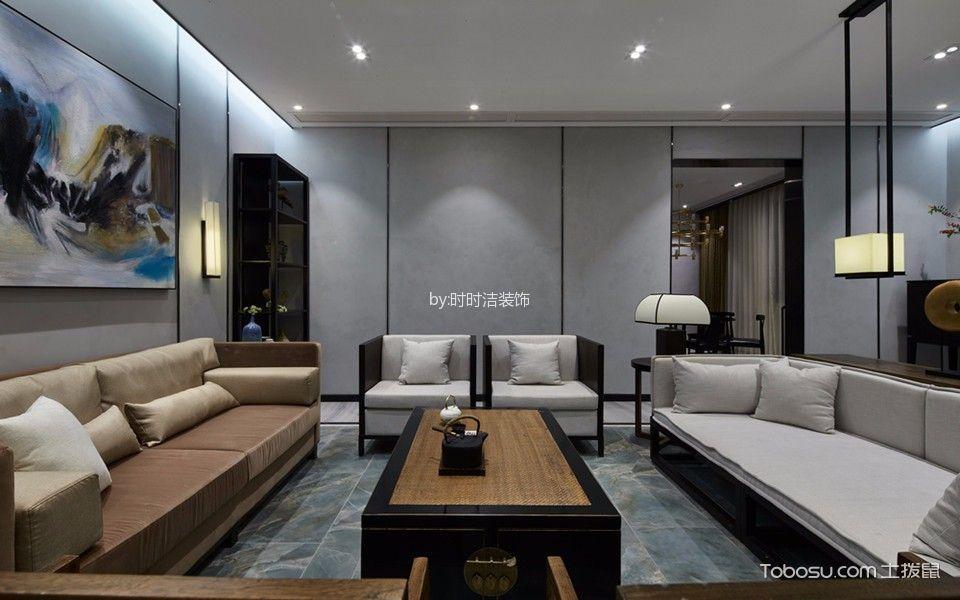 善水湾90平米新中式风格三居室装修效果图