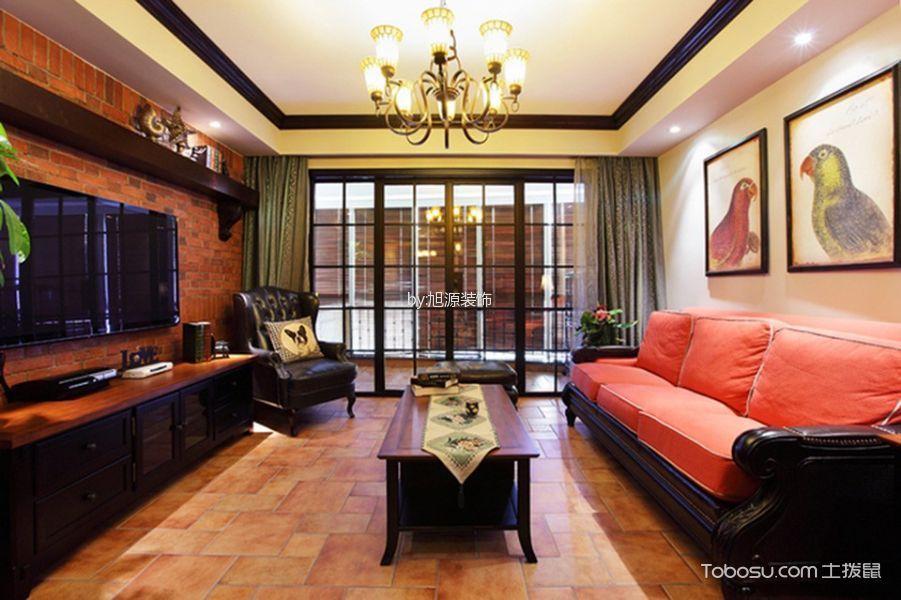 华瑞晴庐120平米混搭风格三居室装修效果图