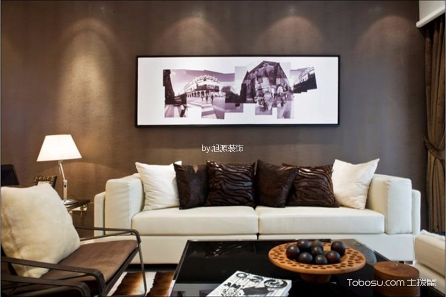 金地格林格林100平米现代简约风格三居室装修效果图