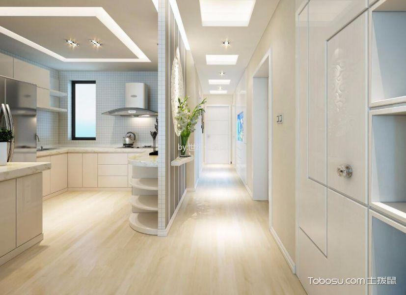 五一阳光尊园80平米现代简约风格两居室装修效果图