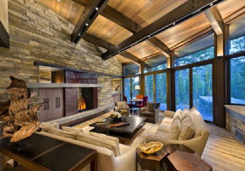 龙湖紫云台300平米现代风格别墅装修效果图