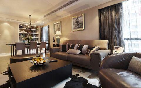 现代风格外形简洁、功能强,强调室内空间形态和物检的单一性、抽象性
