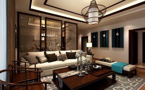 元琦林居中式风格三居室效果