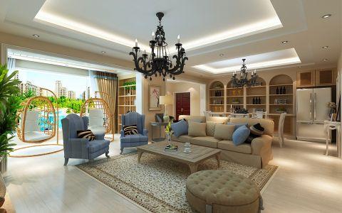 花果园150平米现代风格四居室装修效果图