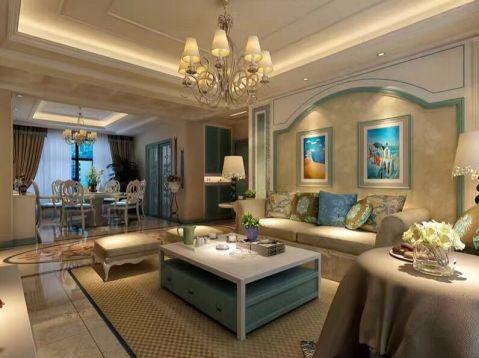 水岸东方120平米地中海风格三居室装修效果图