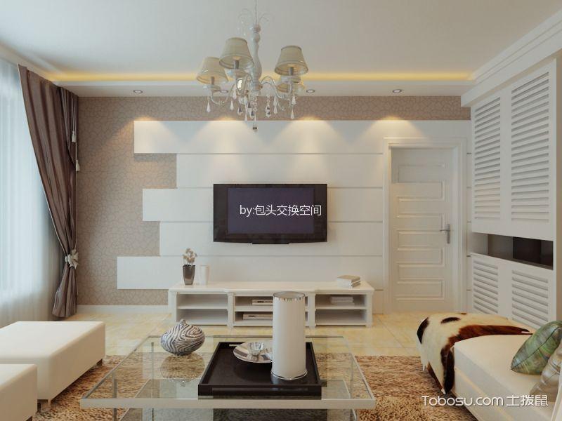 保成二期二居室现代简约风格效果图