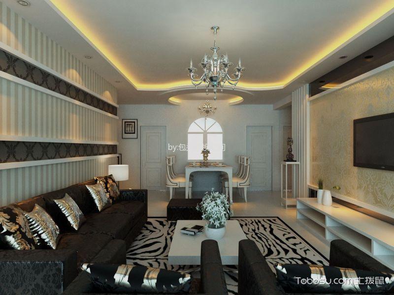 东亚5期三居室现代简约风格效果图