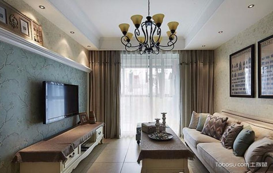 耀翔悦尚100平米欧式风格三居室装修效果图