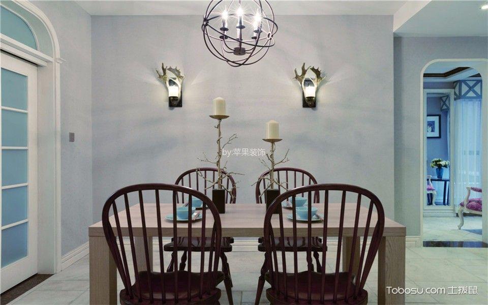 餐厅灰色背景墙混搭风格装饰效果图
