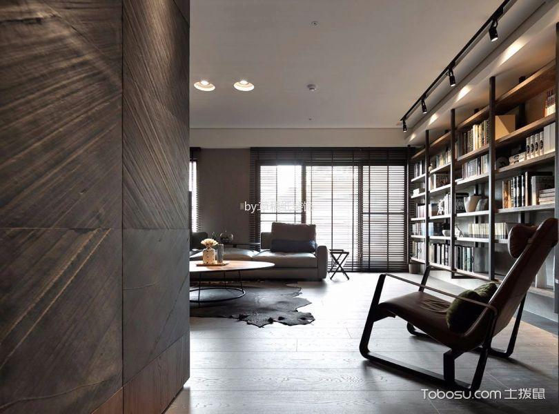客厅咖啡色书架现代简约风格装修效果图