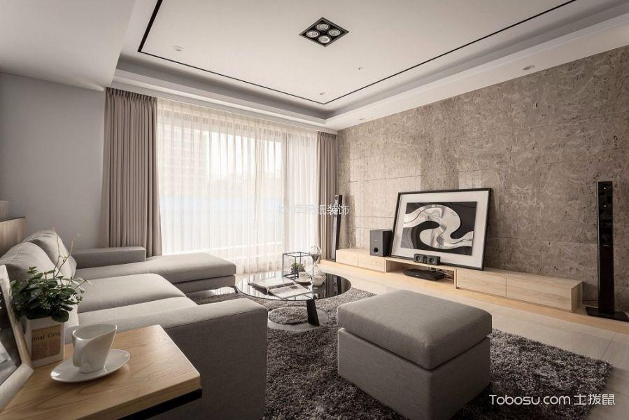 恒大江湾120平米现代简约风格三居室装修效果图